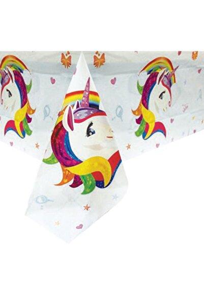 Aşkın Parti Evi Unicorn Doğum Günü Parti Masa Örtüsü