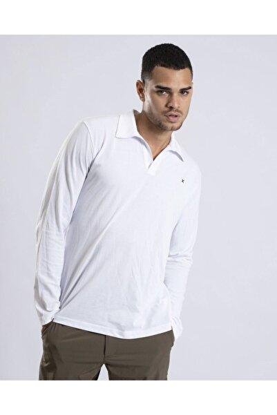 Exuma Erkek Beyaz Uzun Kol Polo  T-Shirt 1012032-100