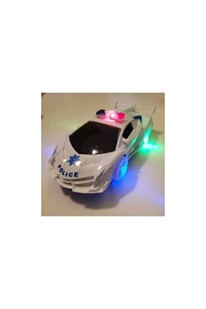 BVM Oyuncak Pilli Işıklı Sesli Polis Arabası Çarpınca Dönen Polis Aracı