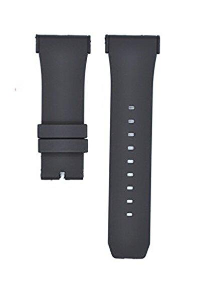 Puma Saat Uyumlu 28mm Siyah Renk Aparatlı Siyah Renk Silikon Saat Kordonu