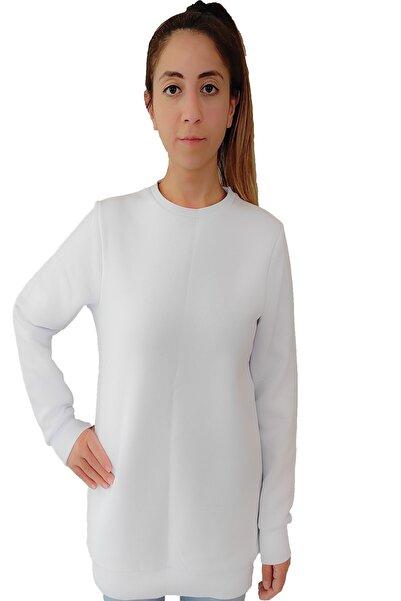 Tshigo Kadın Beyaz Kapşonsuz T-shirt
