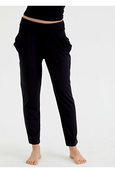 SUWEN Kadın Siyah Scarlet Tek Pantolon