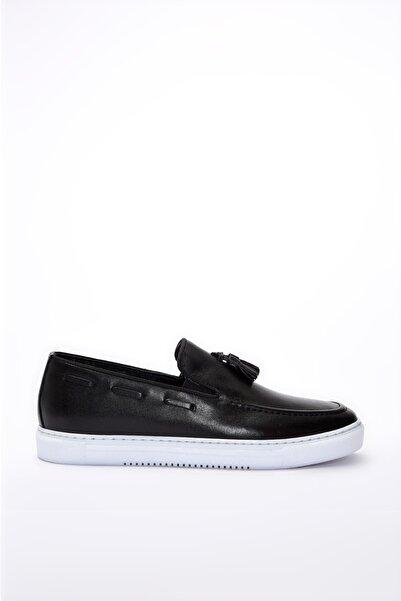Hotiç Hakiki Deri Siyah Erkek Modern Loafer 02AYH195890A100