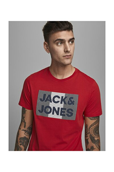 Jack & Jones Bisiklet Yaka T-Shirt 12151955 JJECORP