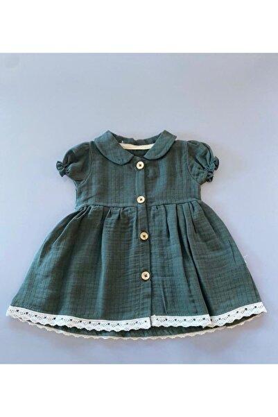 Flexi Kız Bebek Yeşil  Elbise