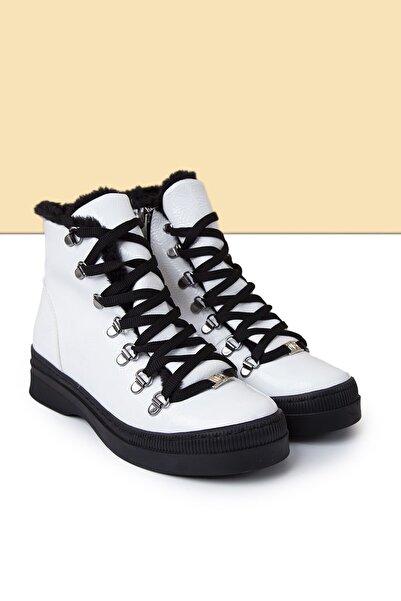 Pierre Cardin Kadın Beyaz Rugan Casual Ayakkabı