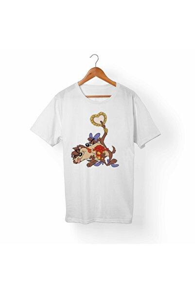 Alfa Tshirt Tazmanya Canavarı Beyaz Tişört