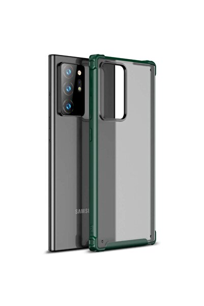 Microsonic Microsonic Galaxy Note 20 Ultra Kılıf Frosted Frame Yeşil