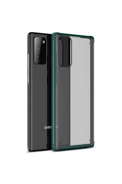 Microsonic Microsonic Galaxy Note 20 Kılıf Frosted Frame Yeşil