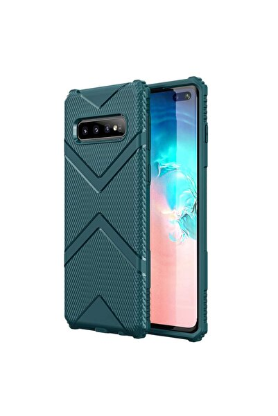 Microsonic Microsonic Galaxy S10 Plus Kılıf Diamond Shield Yeşil