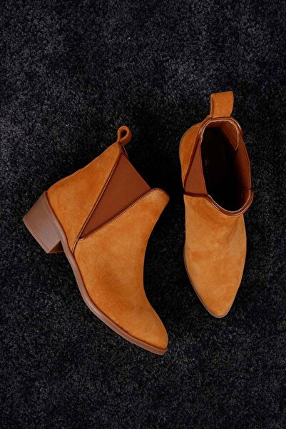 Tinka Bell Shoes 26 Kadın Bot Camel Süet
