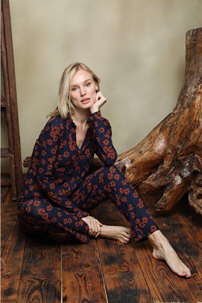 İPEKTENİM TEKSTİL Kadın Gömlek Pijama Takım