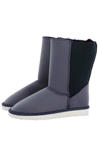 Antarctica Boots Kadın Dalgıç Kumaş Içi Kürklü Gri & Yeşil Bot Gangsg-00020