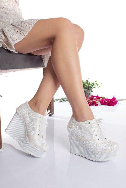 DARUGA Yüksek Topuklu Gelinlik Ayakkabısı