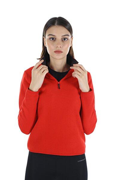 Diandor Kadın Kırmızı Yarım Fermuarlı Polar 21w42000001