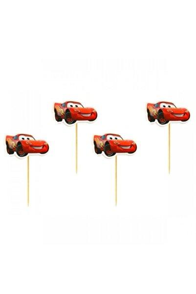 CARS Arabalar Şimşek Mcqueen 20 Adet Doğum Günü Parti Kürdan Sunum Kürdanı