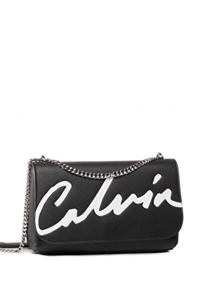 Calvin Klein Kadın Siyah Ckj Sculpted Flap Ew Xbody Çapraz Askılı Çantası K60k606572