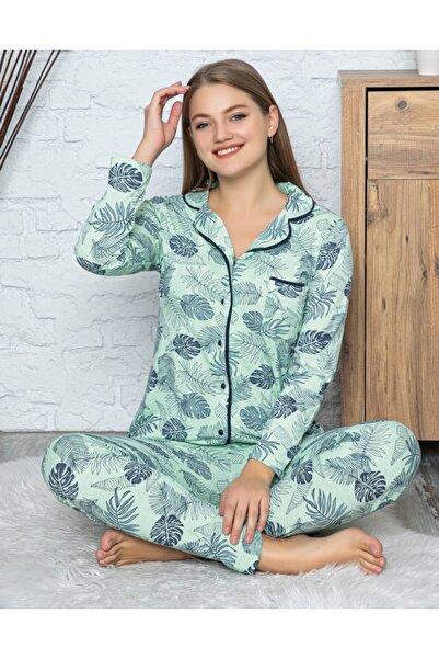 RİNDA Kadın Su Yeşili Pijama Takımı