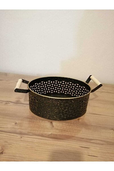 Lavin Metal Siyah Boyalı Sepet Ekmeklik