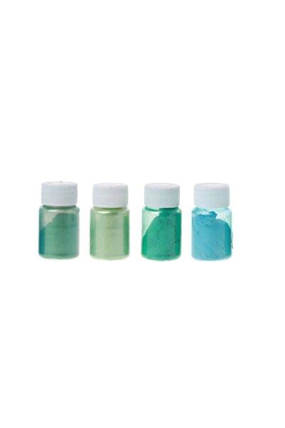 Brtr Kimya 4 Renk Yeşil Sedefli Epoksi Metalik Toz Pigment Seti