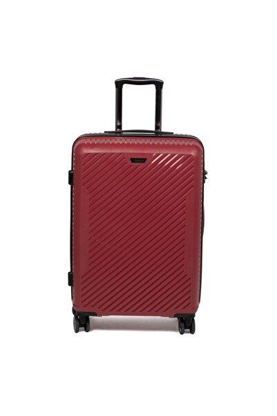 Tergan Kırmızı Büyük Boy Valiz 45528d64
