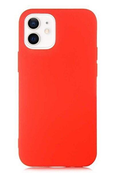 MobilCadde Eiroo Lansman Iphone 12 / Iphone 12 Pro 6.1 Inç Kırmızı Silikon Kılıf