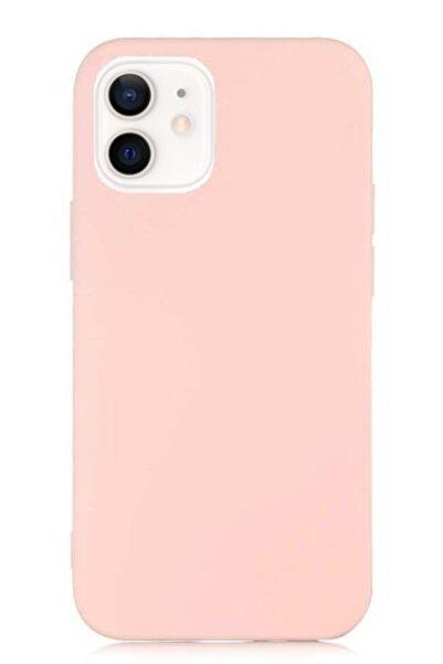 MobilCadde Eiroo Lansman Iphone 12 / Iphone 12 Pro 6.1 Inç Pembe Silikon Kılıf