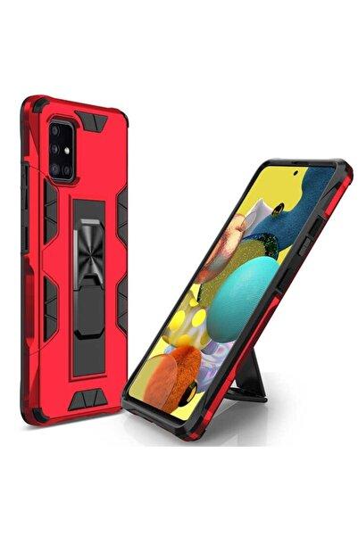 MobilCadde Eiroo Built Samsung Galaxy A71 Ultra Koruma Kırmızı Kılıf
