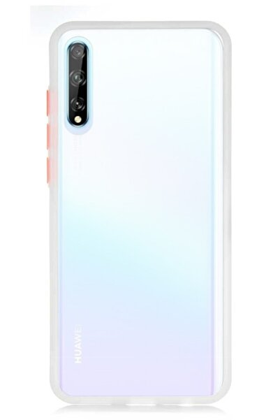 MobilCadde Dafoni Union Huawei Y8p Ultra Koruma Beyaz Kılıf
