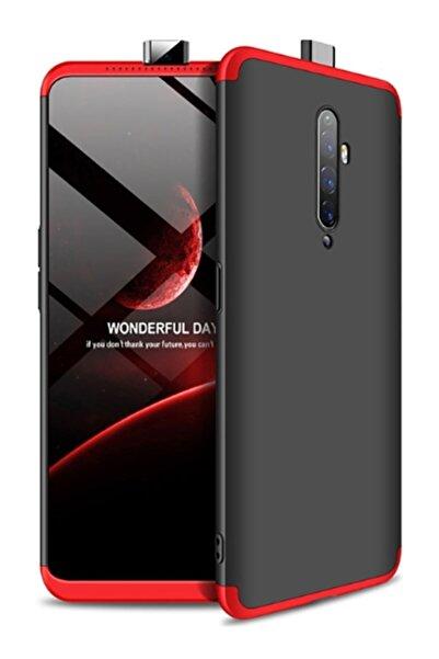 MobilCadde Eiroo Protect Fit Oppo Reno2 Z 360 Derece Koruma Kırmızı-siyah Rubber Kılıf