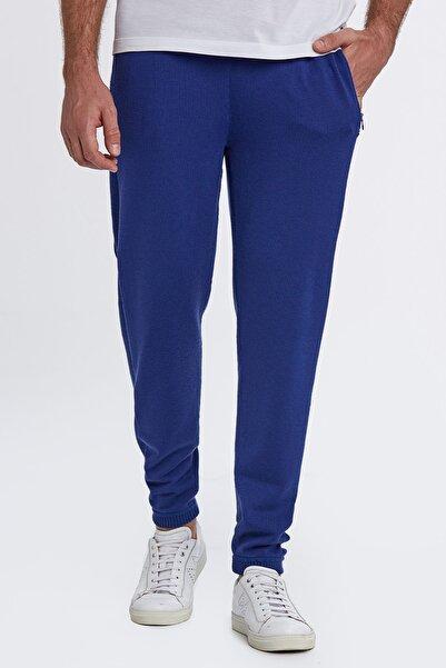 Hemington Erkek Saks Mavisi Activewear Spor Triko Pantolon