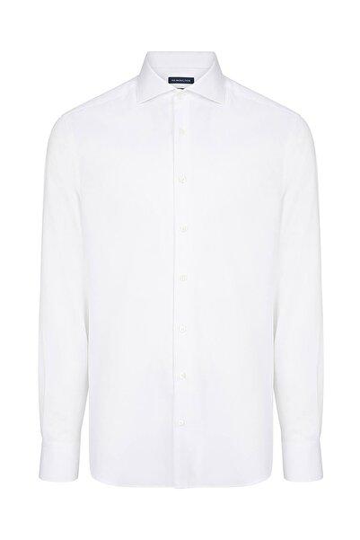 Hemington Erkek Beyaz Balıksırtı Doku Non-ıron Business Gömlek