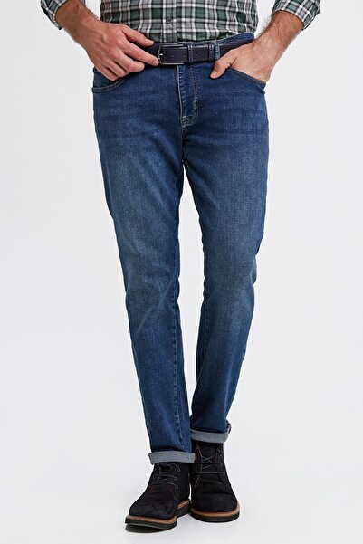 Hemington Erkek Slim Fit Mavi Denim Pantolon