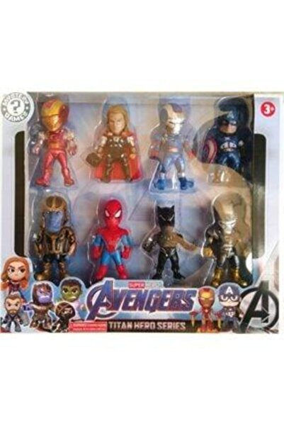 MARVEL Avengers 8li Mini Karakter Figürler Yenilmezler Süper Kahramanlar Oyuncakları