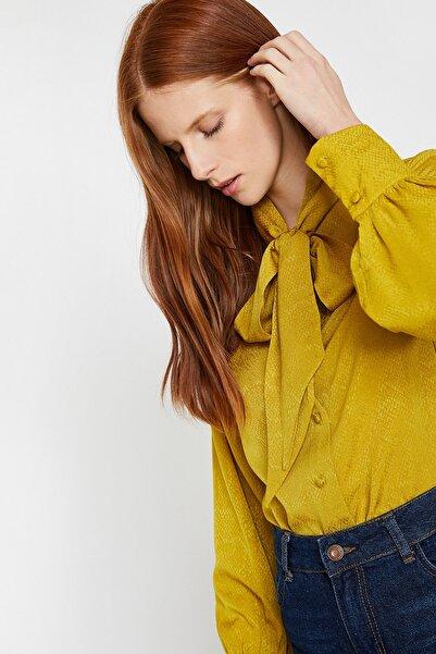 Koton Kadın Sarı Gömlek 0KAK68310PW