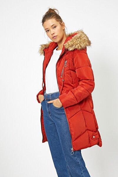 Koton Kadın Kırmızı Kaban 0KAL08150OW