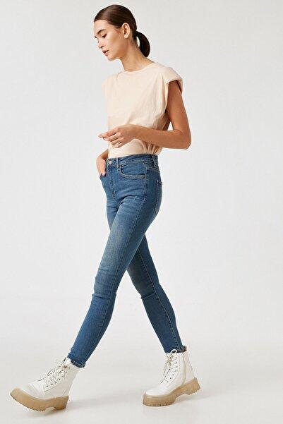 Koton Mıd Indıgo Kadın Jeans 1KAK47054DD
