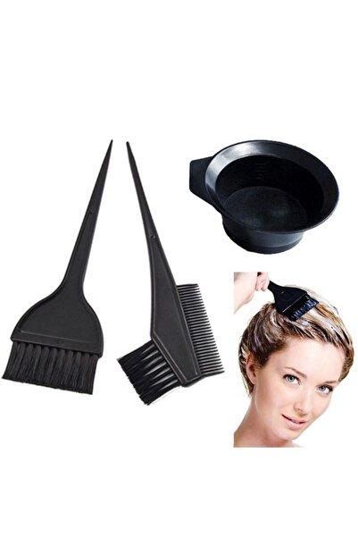 Estella Saç Boyama Seti Boyama Kabı Fırçası 3 Parça