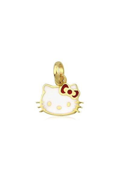 Hello Kitty Kız Çocuk Kırmızı 14 Ayar Altın Kolye Ucu