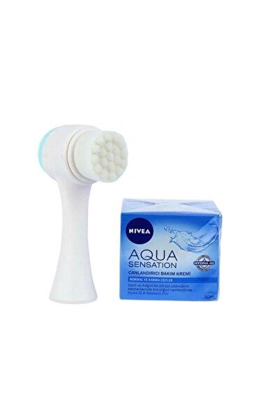 Nivea Aqua Sensation Cilt Bakım Kremi 50 Ml + Yüz Temizleme Fırçası