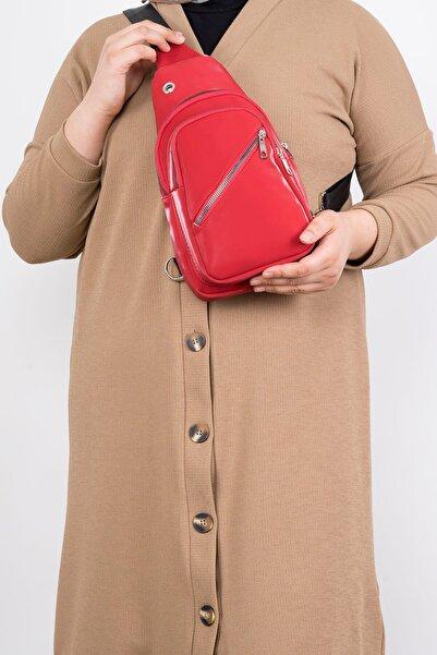 miserycanta Kadın Kırmızı Saten Bel ve Omuz Çantası C0154