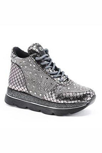 Kadın Gümüş Kalın Taban Sneaker