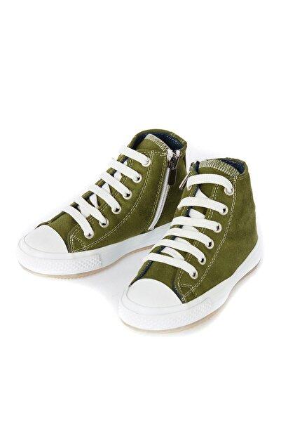 Denokids Haki Süet Görünümlü Erkek-Kız Sneakers