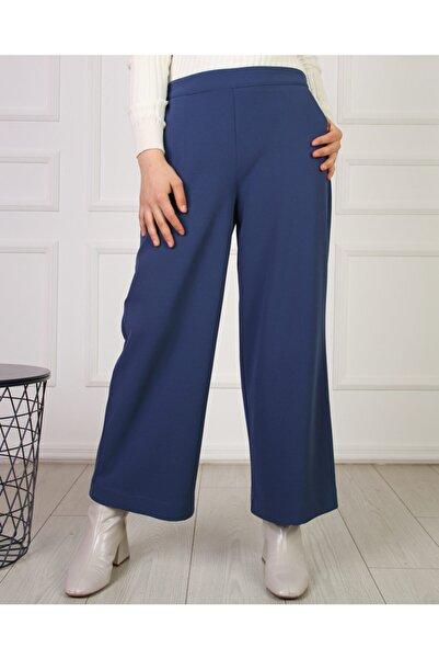 Hüma Sultan Kadın Lacivert Bel Lastikli Pantolon