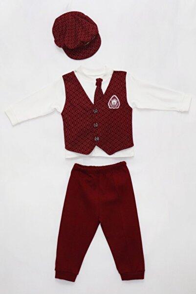 Miniworld Erkek Bebek Bordo Takım