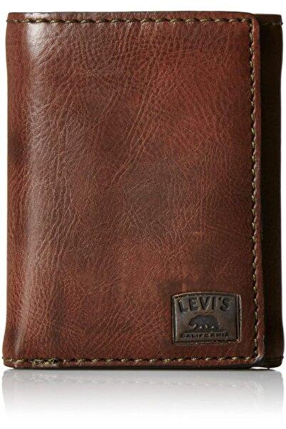 Levi's Unisex Kahverengi Üç Katlı Deri Cüzdan