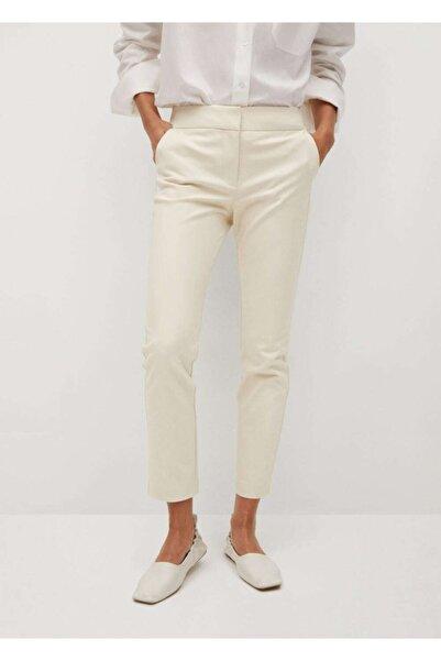 MANGO Woman Kadın Bej Pantolon