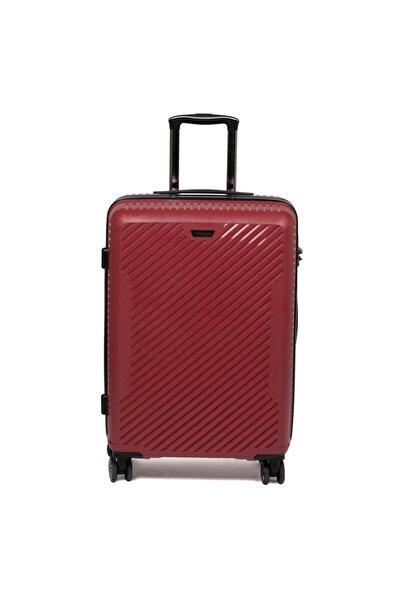 Tergan Kırmızı Kabin Boy Valiz 45520d64