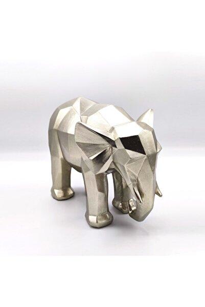 Bun Design Gümüş Fil Figürlü Biblo