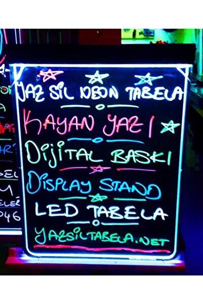 Termoform Işıklı Tabela 30x40cm-3 Renk Kalem-yaz Sil Neon Led Tabela-ışıklı Yazı Panosu-yaz Boz Neon Işıklı Yazı Tahtası